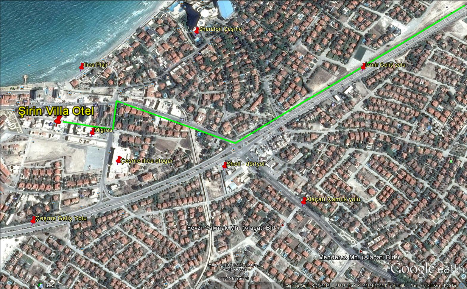 Çeşme Şirin Villa Otel - harita
